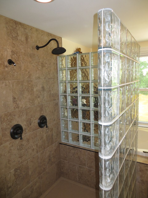Glass Block Walk In Shower Contemporary St Louis By