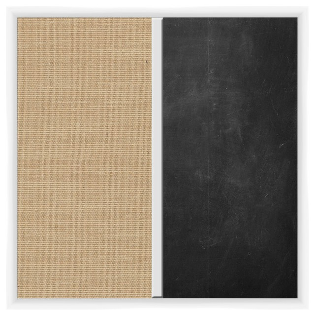 Burlap and Chalk Duo Board - Rustic - Bulletin Boards And Chalkboards ...