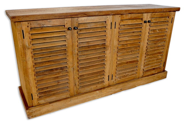Louver Cabinet, Four Doors - Rustic - Accent Chests And Cabinets - by Idlewild Furnishings