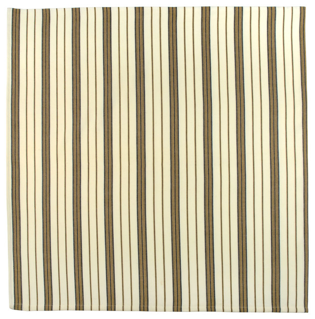 100 Cotton Ivory White And Black Stripe 54x90 Tablecloth