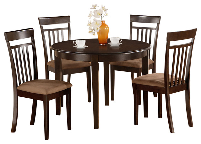 kitchen nook dining set round table and 2 dining chairs contemporary