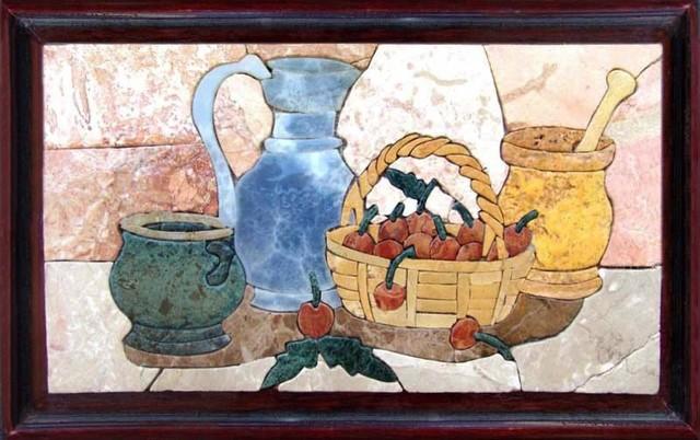 Mosaic patterns prehistoric kitchen mediterr neo murales de azulejos de mozaicoart - Murales de azulejos ...