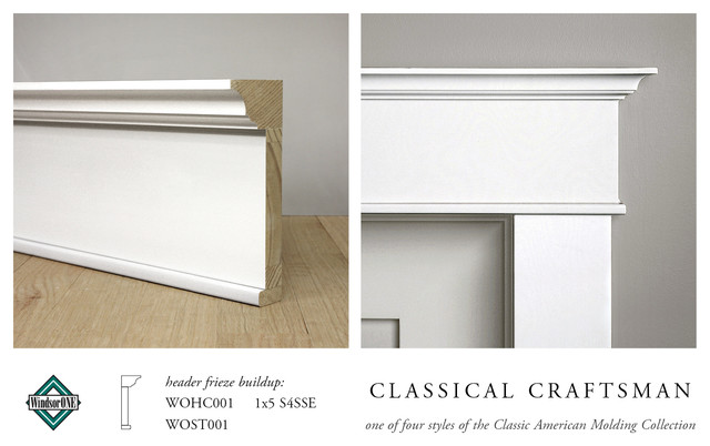 WindsorONE Classical Craftsman Casing u0026 Header Moldings - Craftsman - Molding And Trim - San ...