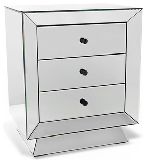 Azul Fully Mirrored Nightstand - Contemporary - Nightstands And Bedside Tables - by Zuri Furniture