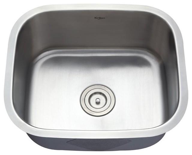 ... Single Bowl 16 gauge Stainless Steel Kitchen Sink modern-kitchen-sinks