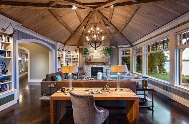 Rustic Elegance Transitional Living Room Other Metro