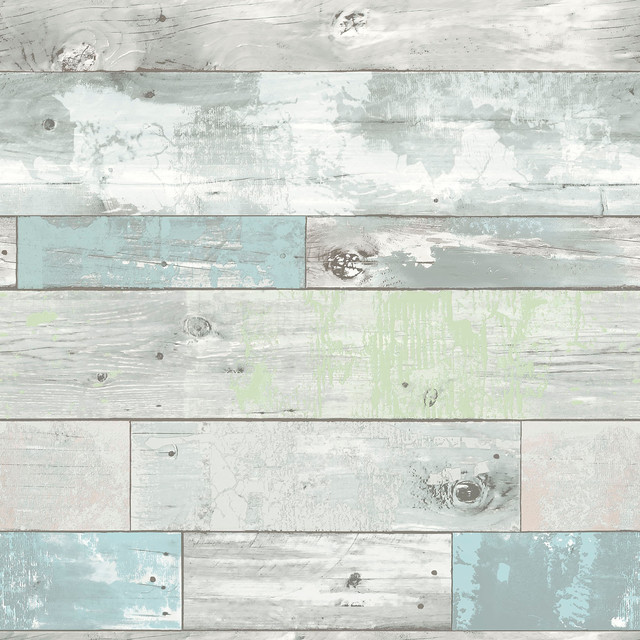 Wood Panel Peel And Stick Wallpaper 4 Rolls Beach style