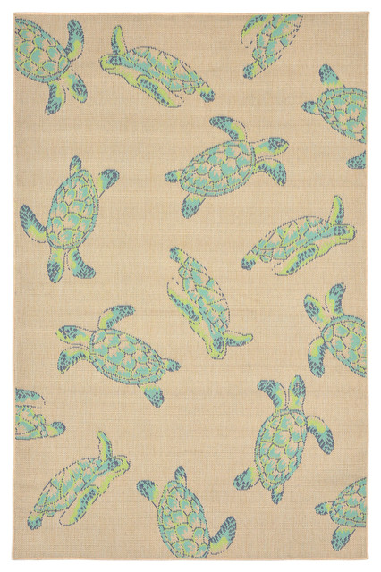 Playa Seaturtles Rug Cool 4 10 Quot X7 6 Quot Outdoor Rugs By