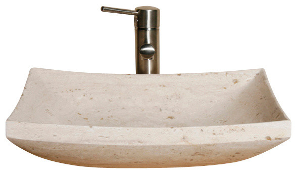 VZ1816 White Sands Honed Vessel Sink asian-bathroom-sinks