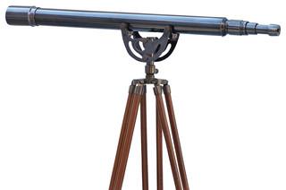 Floor standing anchormaster telescope oil rubbed bronze for Dekofiguren modern