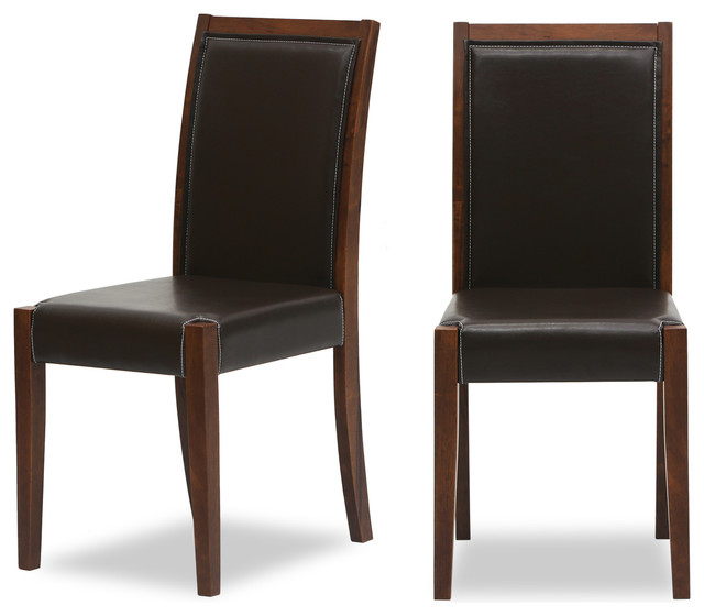 Lita faux leather cocoa dining chair for Modern dining chairs vancouver