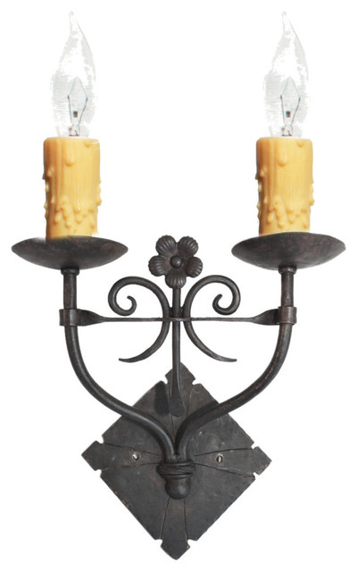 Custom Hand Made Iron Sconces - Mediterranean - Wall Sconces - san diego - by Hacienda Lights ...