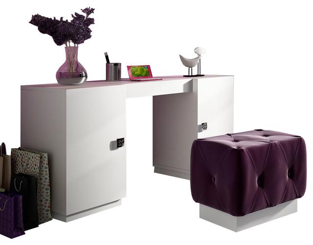T25 Bedroom Make Up Vanity 63 White Matte Finish Contemporary Bedr