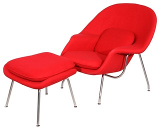 comfy chair and ottoman set red modern armchairs and accent