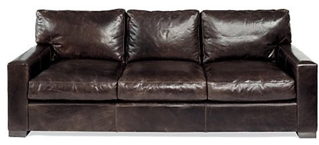 Moroni grandeur classic leather sofa and loveseat set in for Coach furniture