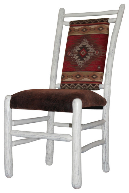 Rustic hickory painted dining chairs set of 2 rustic dining chairs