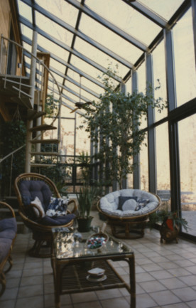 Two Story Solarium Modern Greenhouses Seattle By