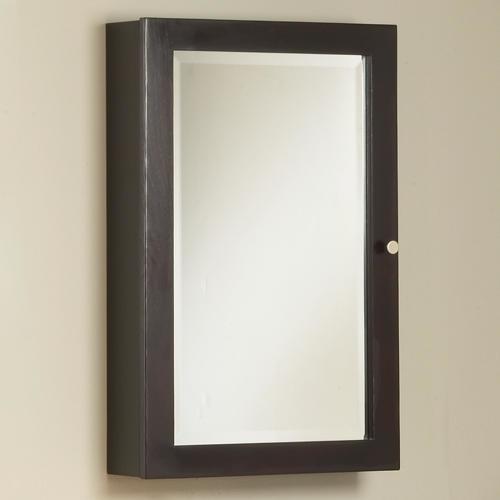 18 parsons medicine cabinet espresso modern bathroom cabinets