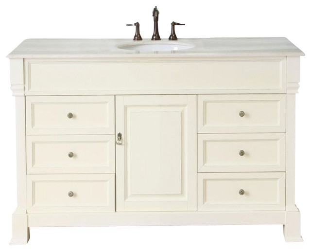 50 Inch Traditional Single Sink Bathroom Vanity Traditional Bathroom Vanities And Sink