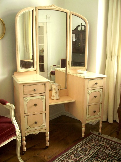 Hand Painted Distressed Shabby Chic Vintage Vanities By My Paris Apartment Traditional