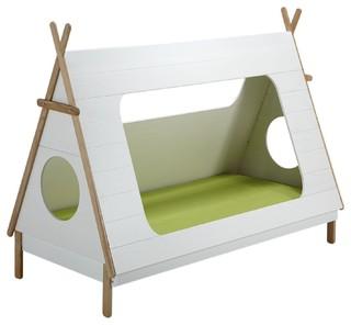 tipi lit 90x200cm en pin massif en forme de tipi contemporain lit enfant. Black Bedroom Furniture Sets. Home Design Ideas