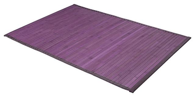 tapis de bain bambou violet 50 x 80cm exotique tapis de bain par homy. Black Bedroom Furniture Sets. Home Design Ideas