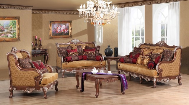 Anastasia Luxury Living Room Sofa Set Victorian Living Room Furniture Set