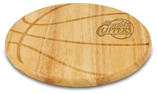 Los Angeles Clippers Free Throw Cutting Board In Natural Modern Cutting B