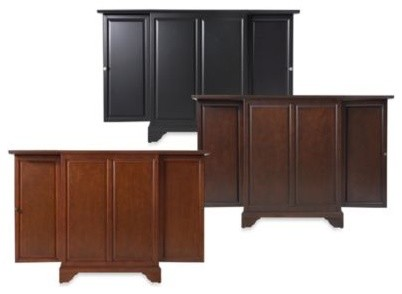 Crosley Lafayette Expandable Bar Cabinet Contemporary Wine And Bar Cabinets By Bed Bath
