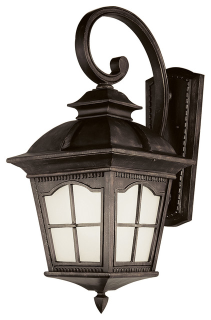 Transitional Outdoor Wall Lights : Trans Globe PL-5424 AR 1-Light Coach Lantern - Transitional - Outdoor Wall Lights And Sconces ...