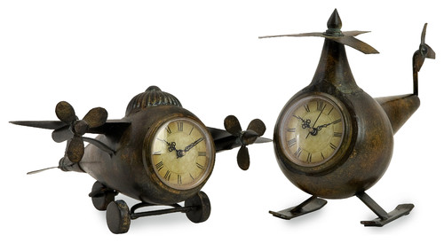 Lindbergh Aviation Clocks, Set of 2