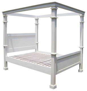 Colonial four poster bed traditional four poster beds for Traditional four poster beds