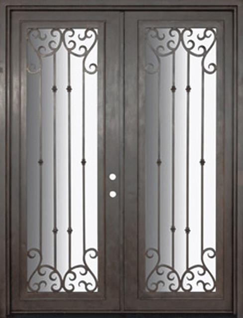 Valencia 72x96 forged iron double door 14 gauge steel for 14 gauge steel door
