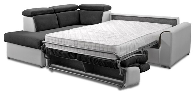 canap d 39 angle p ninsule gauche rapido imola matelas 18cm couchage 160cm contemporain canap. Black Bedroom Furniture Sets. Home Design Ideas