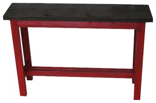 Pixo Sofa Console Red Brown Farmhouse Console Tables