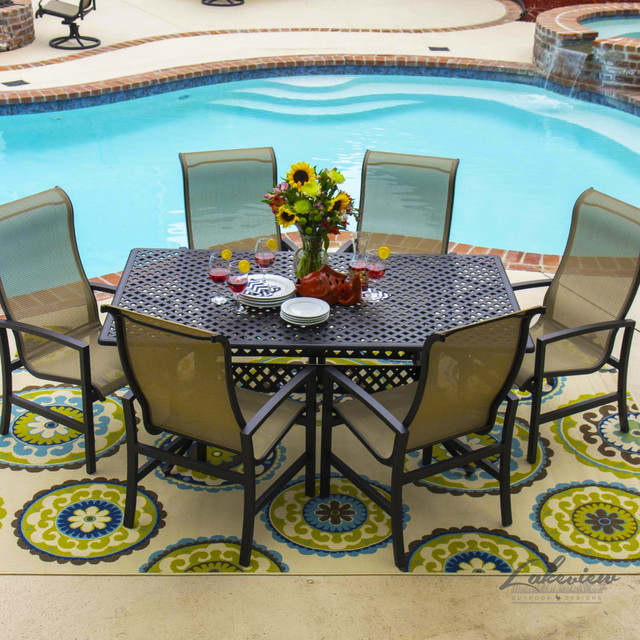 acadia sling patio furniture modern outdoor dining