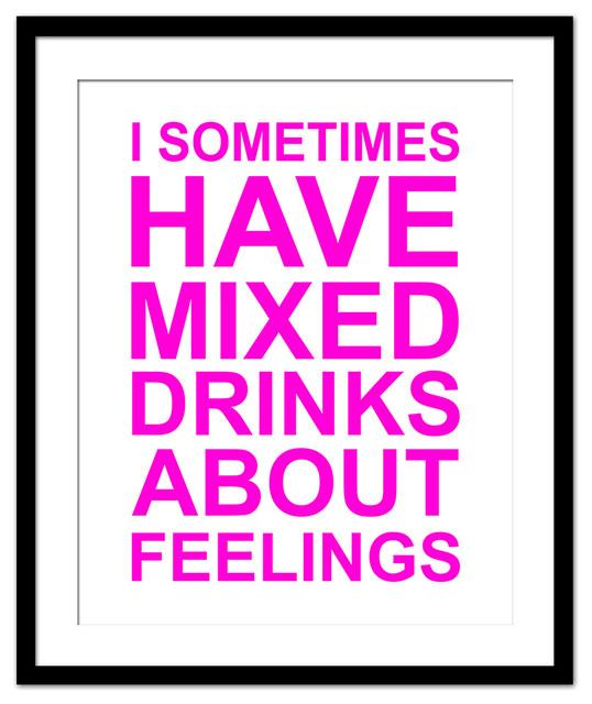 I Sometimes Have Mixed Drinks Bar Print, Medium ...
