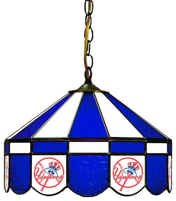 16'' Stained Glass Pub Light, New York Yankees