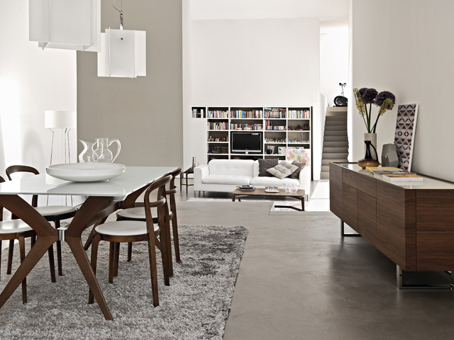 Calligaris tokyo table with cloe dining chair modern for Table with div