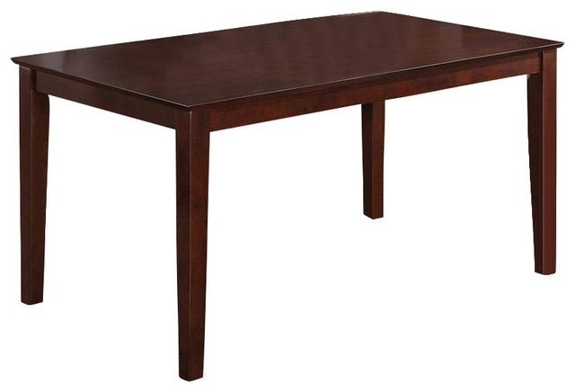 """Capri Rectangular Dining Table 36""""X60"""" With Solid Wood Top"""