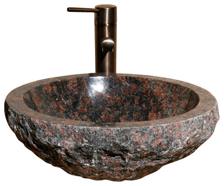 Brown Bathroom Sink : VR166-BE Tan Brown Polished Vessel Sink - Traditional - Bathroom Sinks ...