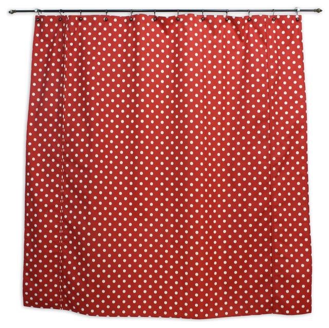 Sunshine Dot Shower Curtain Red