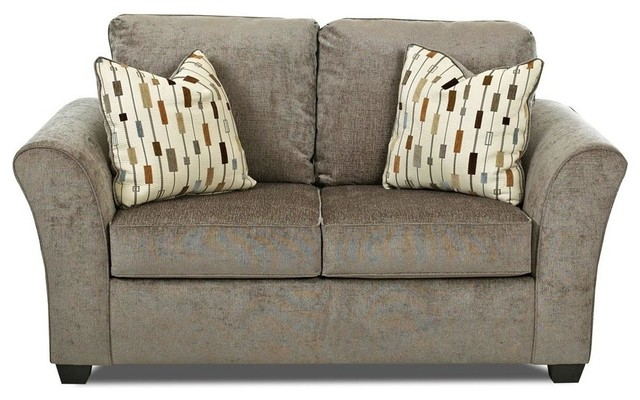 Casual Loveseat In Sage Contemporary Loveseats