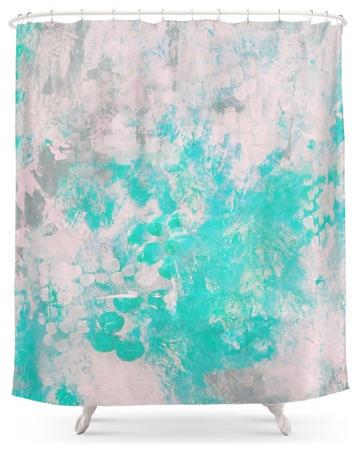 Society6 Turquoise Splash Shower Curtain Shower Curtains By Society6