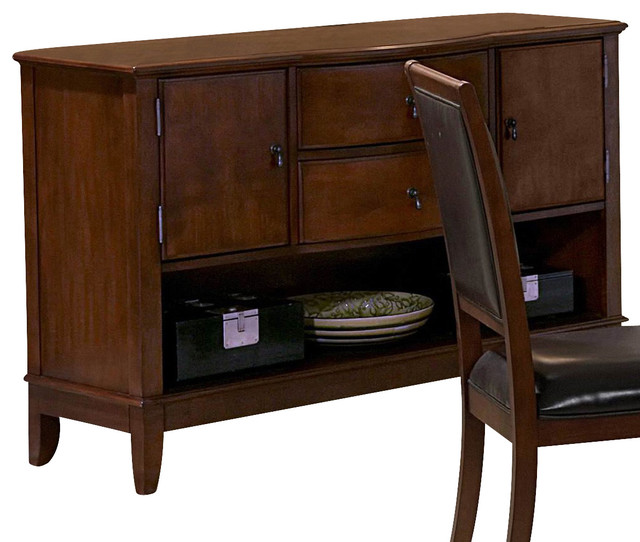 Homelegance avalon inch sideboard in cherry