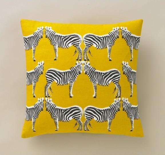 Eclectic Pillows : Zebra Citrine Pillow - Eclectic - Decorative Pillows - by DwellStudio