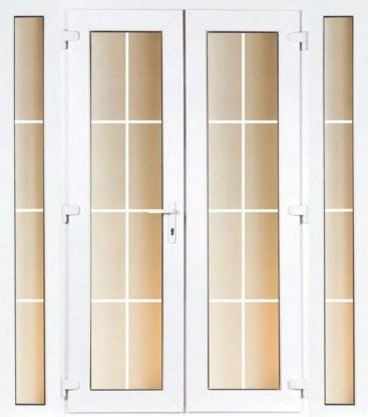 4ft georgian french and 2 narrow sidelite 1790mm wide for Georgian french doors exterior