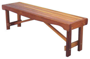 Backless Garden Bench Seat Traditional Outdoor Benches by Outdoor Furni