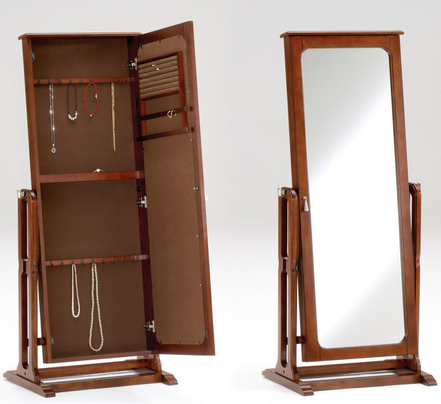 Modern Jewelry Armoire Cherry Jewelry Armoire Mirror Modern Jewelry Armoires