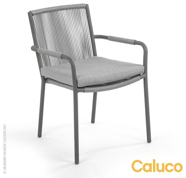 caluco felicidad dining arm chair set of 2 modern